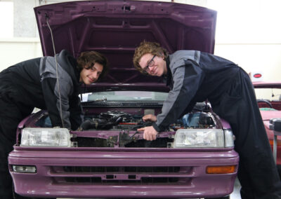 Students of the BOP Futures Academy - Mechanic Training