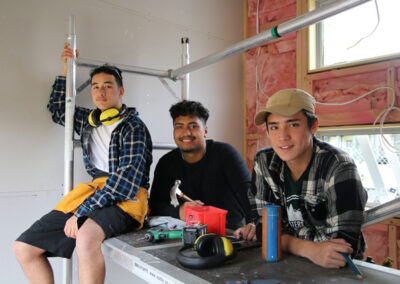 Students of the BOP Futures Academy - Building Industry Training