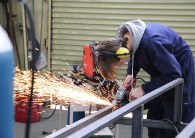 Students of the BOP Futures Academy - Fabrication, Metal work, Welding Training