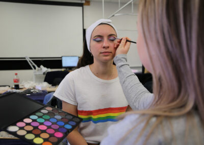 Students of the BOP Futures Academy - Makeup Artist Training